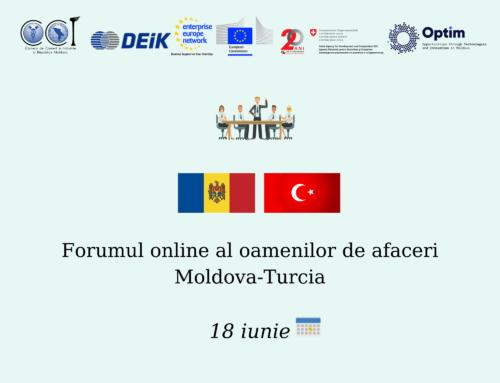 Invitație pentru agenții economici de participare la Forumul online al oamenilor de afaceri Moldova-Turcia!