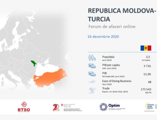 Republica Moldova – Turcia (or. Bursa): Oportunități de colaborare